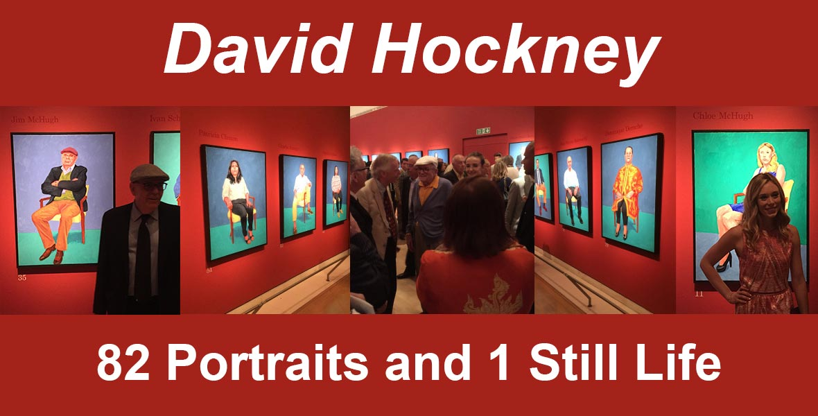 David Hockney, 82 Portraits and 1 Still Life at the Royal Academy July 2016