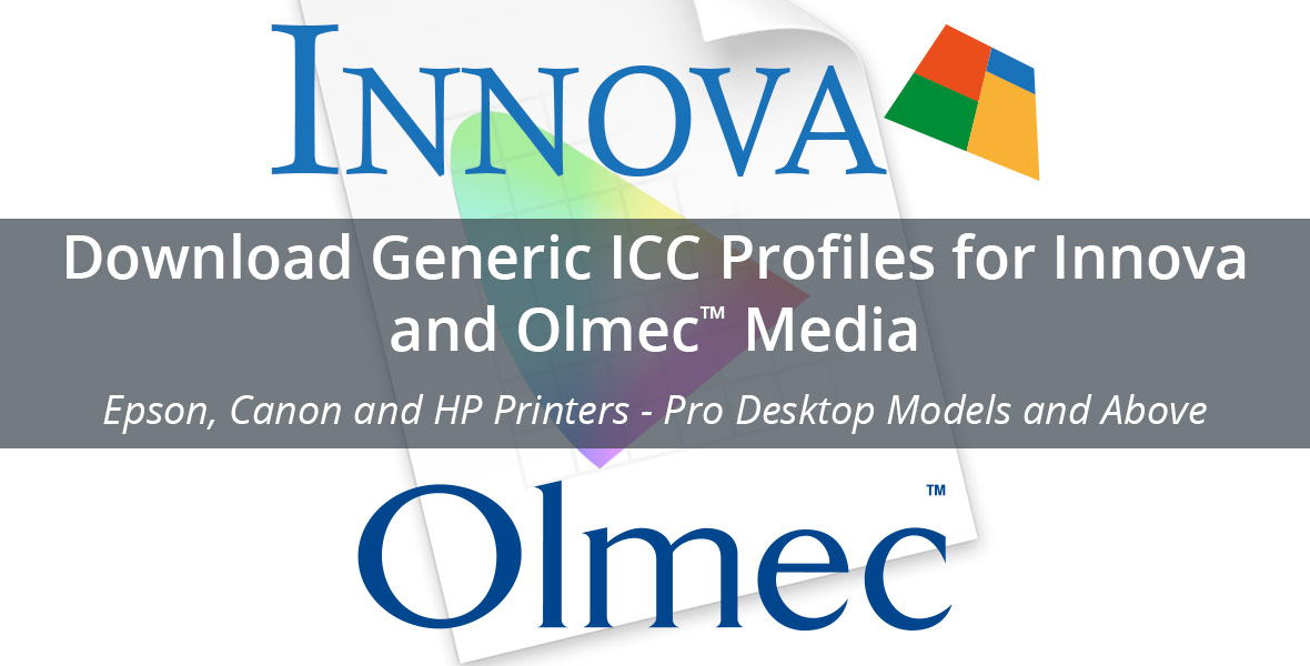 Download Generic ICC Profiles Innova and Olmec Media