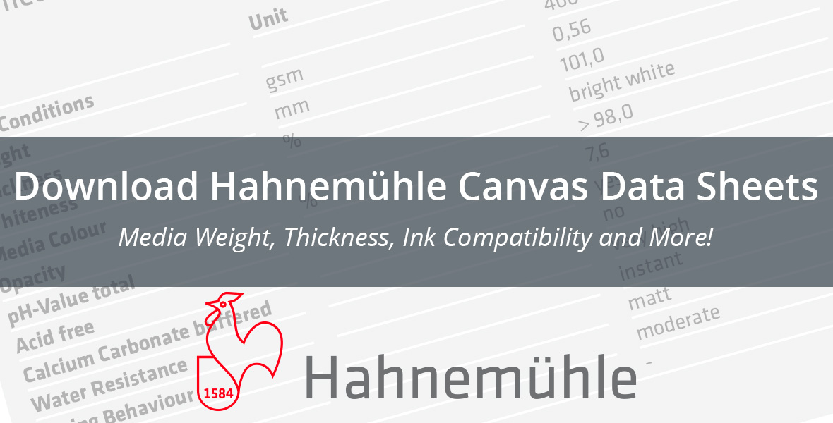 Download Hahnemuhle Canvas Data Sheets