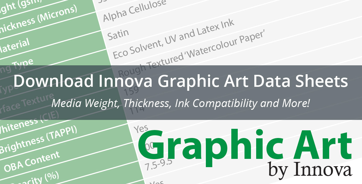 Download Innova Graphic Art Data Sheets