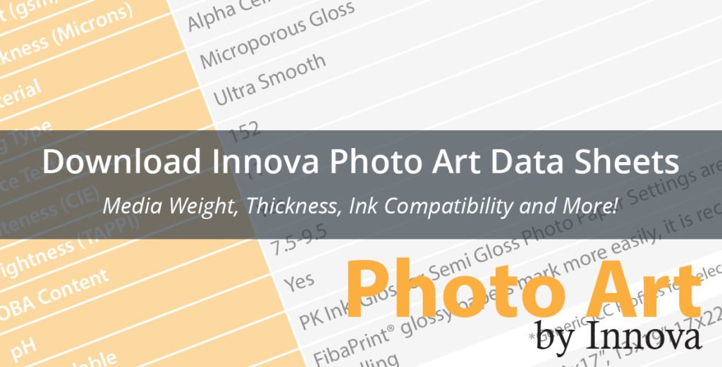 Download Innova Photo Art Data Sheets