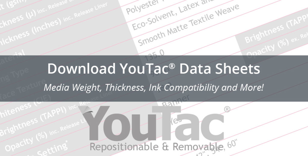 Download YouTac Data Sheets